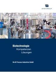 M+W Process Industries Broschüre Biotechnologie