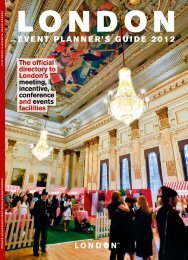 EvENt PLaNNEr's GuiDE 2012 - London & Partners
