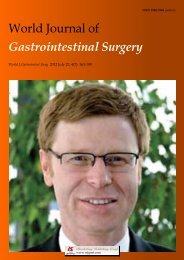 Gastrointestinal Surgery - World Journal of Gastroenterology
