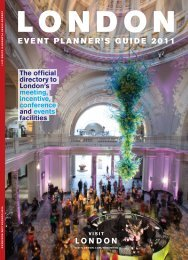 LONDON EVENT PLANNER'S GUIDE 2011 - London & Partners