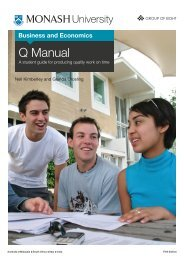 Q Manual - Faculty of Business and Economics - Monash University