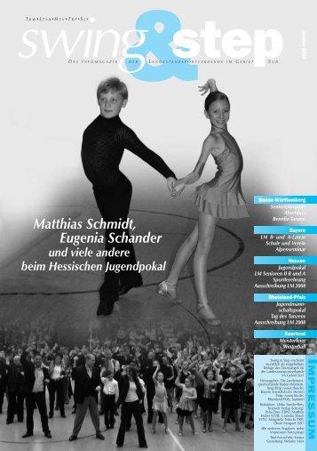 Matthias Schmidt, Eugenia Schander - Deutscher Tanzsportverband ...