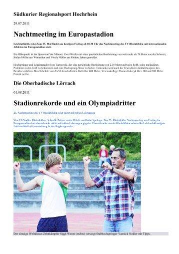 Südkurier Regionalsport Hochrhein - Leichtathletik TV Rheinfelden