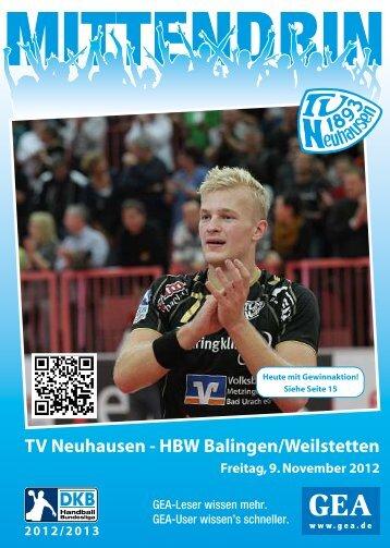 TV Neuhausen - HBW Balingen/Weilstetten