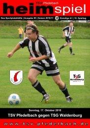 TSV Pfedelbach gegen TSG Waldenburg