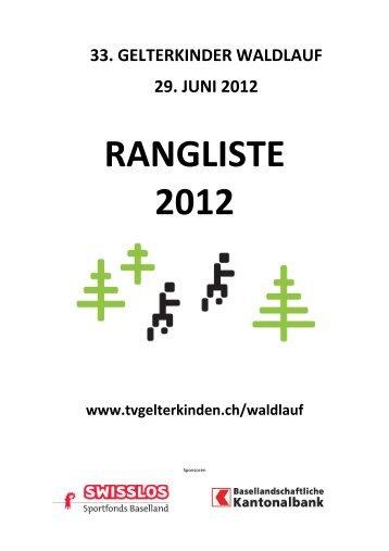 RANGLISTE 2012 - TV Gelterkinden