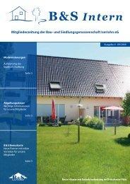 Mitgliederzeitung der Bau- und Siedlungsgenossenschaft Iserlohn eG