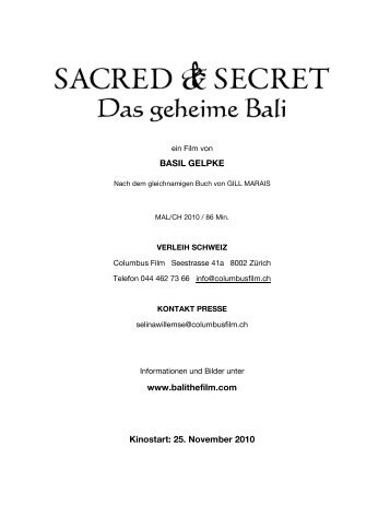 Presseheft in Deutsch - Sacred And Secret