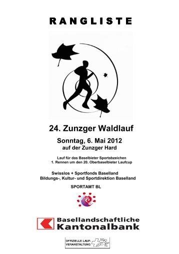 Rangliste 2012 online - Zunzger Waldlauf