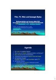 Film, TV, Web und bewegte Bytes - Medienengineering