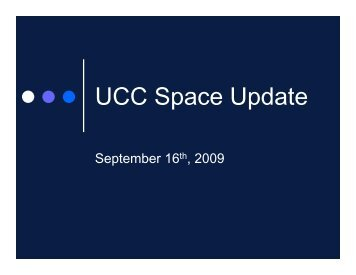 UCC Space Update - University Students' Council of UWO