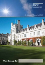A Schools' Guide to UCC - University College Cork