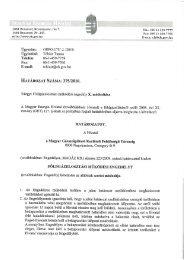 Ügyszám: GEFO-175/ l /2o10. - Magyar Energia Hivatal