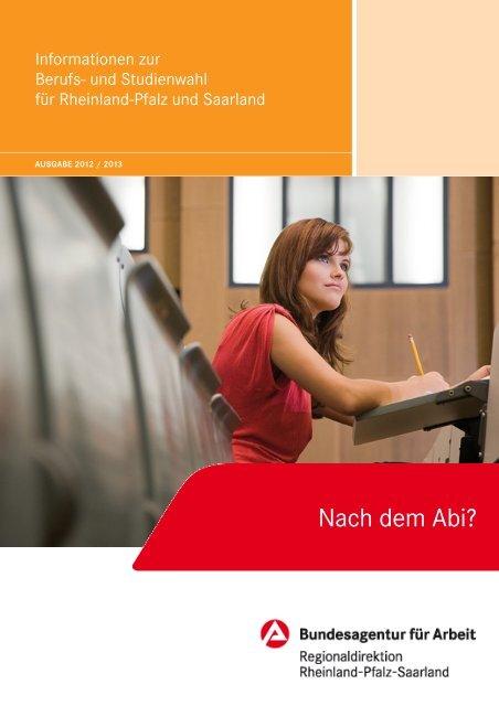 STUDIEREN, ABER WO UND WAS? - Bundesagentur für Arbeit