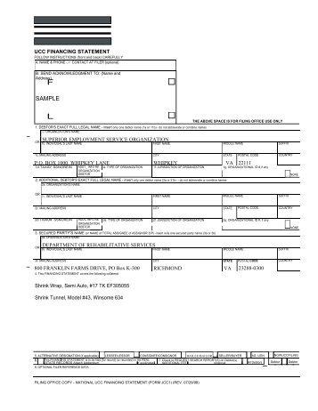 UCC-1 Addendum Filing Guidelines - Maine.gov