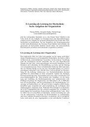 E-Learning als Leistung der Hochschule - University of Klagenfurt ...