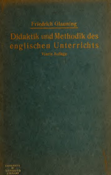 Didaktik und Methodik des englischen Unterrichts