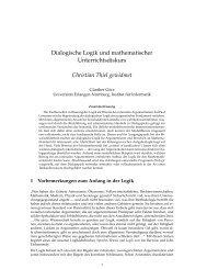 Dialogische Logik und mathematischer Unterrichtsdiskurs Christian ...