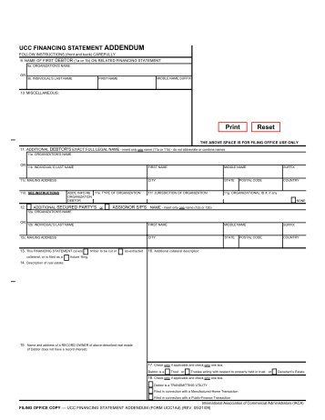 UCC financing statement form example - Virginia Department for ...