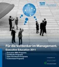 Für die Vordenker im Management. - EEC München - TUM