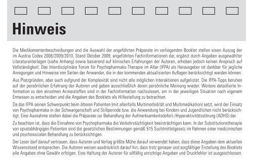Roche - bei Psychopharmaka Austria