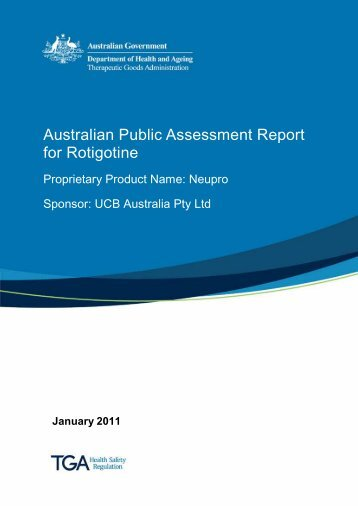 Australian Public Assessment Report for Rotigotine - Therapeutic ...