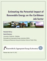 Estimating the Potential Impact of Renewable Energy on the ...