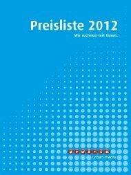Gewista Preisliste 2012, Doppelseiten, Low-Res