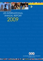 2009 Annual Report - Licensing Executives Society International