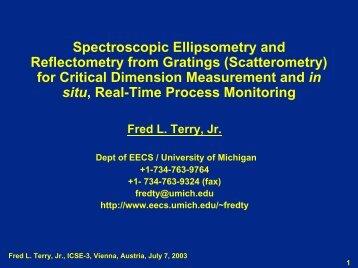 Fred L. Terry, Jr., ICSE-3, Vienna, Austria - University of Michigan
