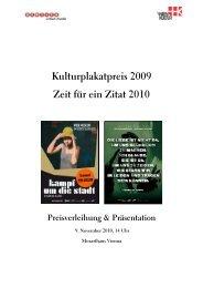 Kulturplakatpreis Pressemappe 071010 - Gewista