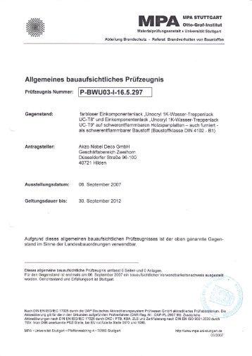 Unocryl 1K-Wasser-Treppenlacke UC-T 8/9 - Zweihorn