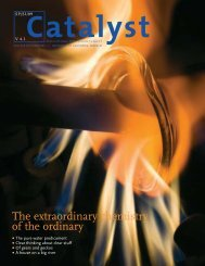 The extraordinary chemistry of the ordinary - Catalyst - University of ...