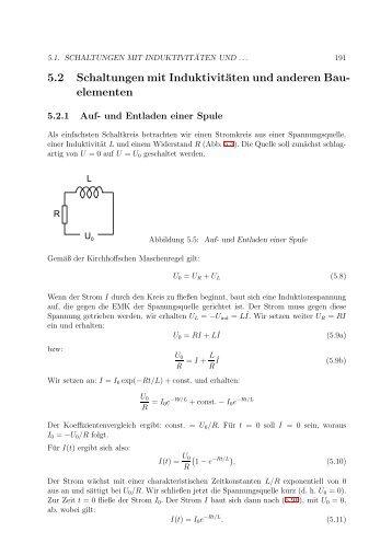 5.2 Schaltungen mit Induktivitäten und anderen Bau- elementen