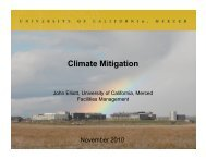 Climate Mitigation - University of California, Merced