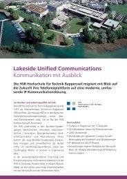 Lakeside Unified Communications Kommunikation ... - connectis AG