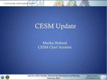 CESM Update - CESM - UCAR