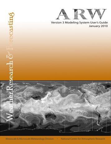 WRF ARW User's Guide - MMM - UCAR
