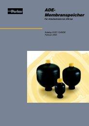ADE- Membranspeicher - Siebert Hydraulik & Pneumatik