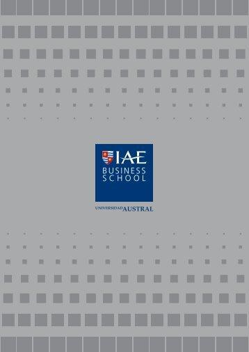 Folleto Institucional - IAE Business School