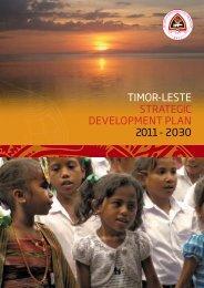 timor-leste strategic development plan 2011 - 2030 - WHO country ...