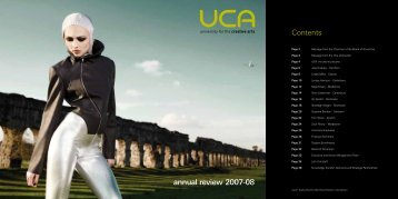 annual review 2007-08 Contents - holding page - University for the ...