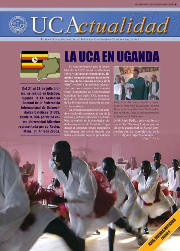 LA UCA EN UGANDA - Universidad Católica Argentina