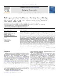 Modeling connectivity of black bears in a desert sky island ... - aphis