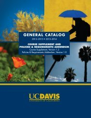 2012-2014 UC Davis General Catalog Supplement
