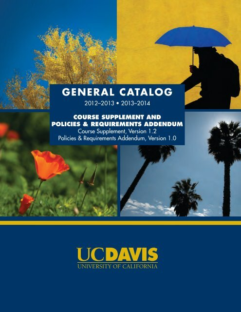 2012-2014 UC Davis General Catalog Supplement
