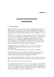 Anlage 5 / 1 Lagebericht der U.C.A. Aktiengesellschaft, München, für ...
