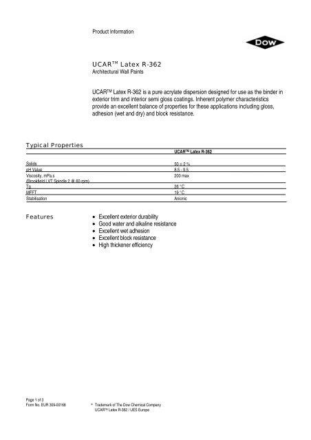 Ucar latex R-362 - Mielco