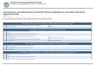 Liste bereits angerechneter Kurse - Universität zu Köln
