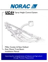 5 electrical reference – cable drawings - NORAC Systems